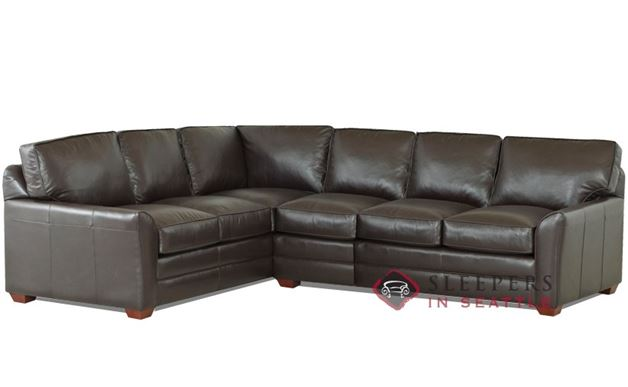 Savvy Gold Coast Leather True Sectional Sofa