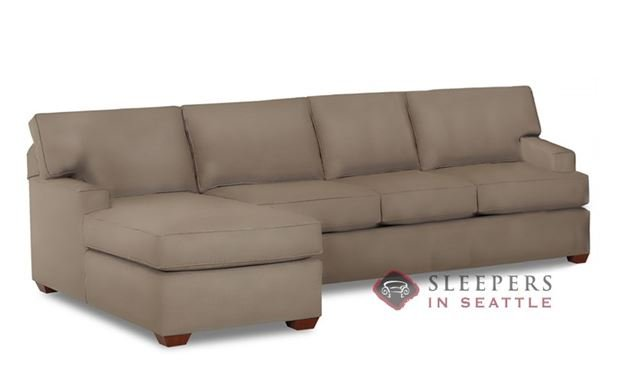 Savvy Palo Alto Leather Chaise Sectional Sleeper
