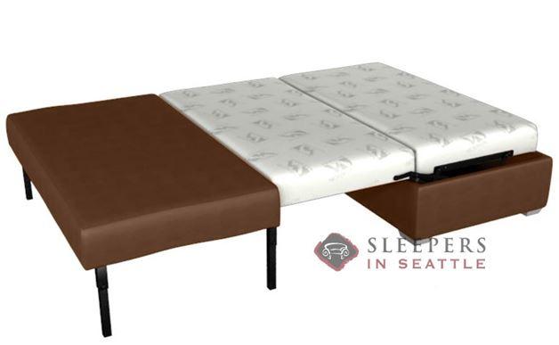 Lazar Industries Endicott Paragon Ottoman Leather Sleeper (Full)