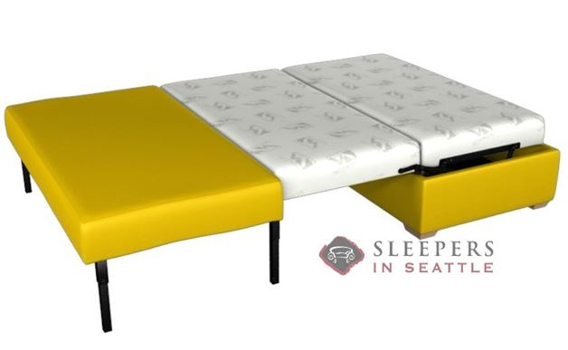 Lazar Industries Somerset Paragon Ottoman Leather Sleeper (Full)