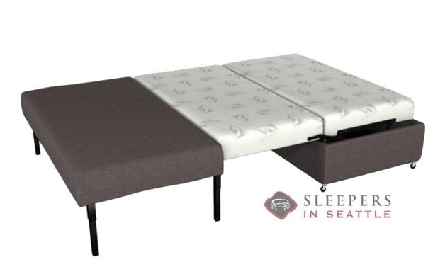 Lazar Industries Pelham Paragon Ottoman Sleeper in Dumdum Charcoal (Full)