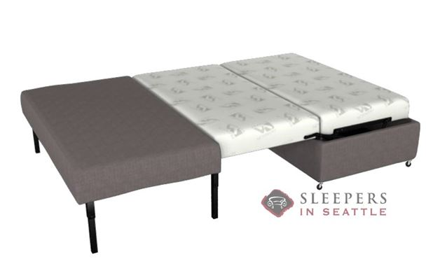 Lazar Industries Pelham Paragon Ottoman Sleeper in Dumdum Platinum (Full)