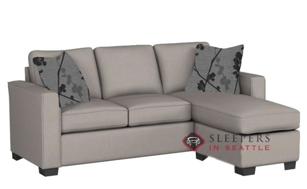 Stanton 702 Chaise Sectional Sleeper Sofa in Geo Cappuccino (Queen)