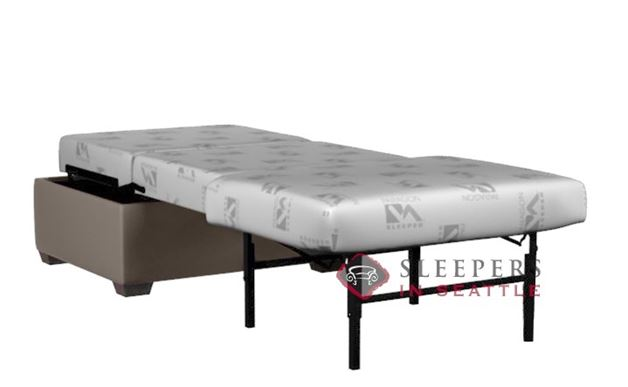 Lazar Industries Darby Paragon Ottoman Leather Sleeper (Cot)