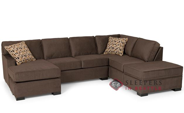 Stanton 146 Dual Chaise Sectional Sleeper Sofa with Storage (Queen)