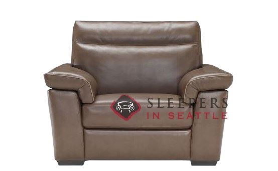 B757-048:  Natuzzi Editions Cervo Leather Big Chair