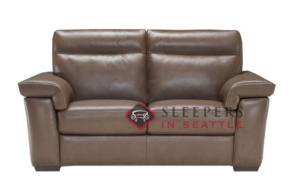 B757-005: Natuzzi Editions Cervo Leather Loveseat