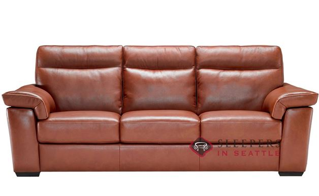 B757-064: Natuzzi Editions Cervo Leather Sofa