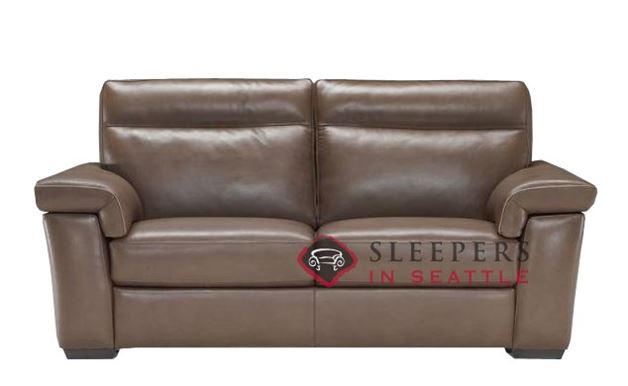 B757-146: Natuzzi Editions Cervo Reclining Leather Studio Sofa