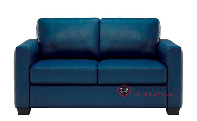 B735-005: Natuzzi Editions Roya Leather Loveseat
