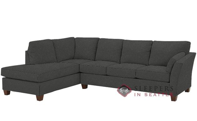 Savvy Sienna Chaise Sectional Sleeper in Takeoff Sterling RAF Configuration (Queen)