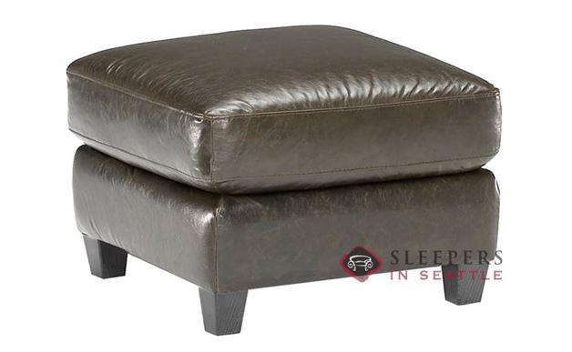 Natuzzi B534 Leather Ottoman