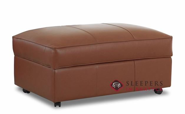 Savvy Calgary Storage Ottoman in Leather