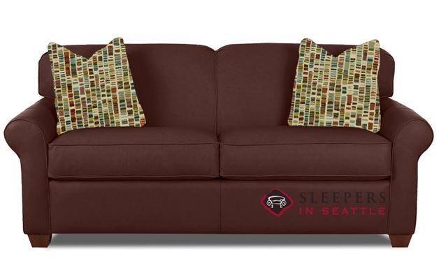 Savvy Calgary Leather Sleeper Sofa in Aspen Walnut (Full)