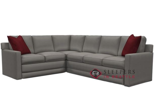 Lazar Industries Broadway Leather True Sectional Sleeper Sofa (Queen)