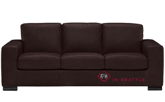 Natuzzi B534 Sleeper in Belfast Dark Brown (Queen)