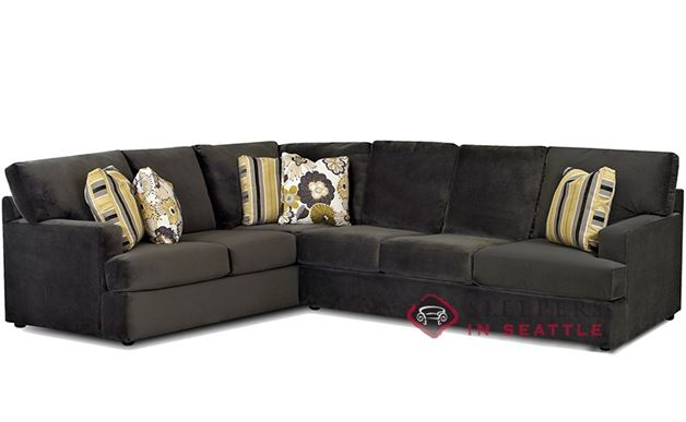 Superb Savvy Mercer Island True Sectional Queen Sleeper Sofa Onthecornerstone Fun Painted Chair Ideas Images Onthecornerstoneorg