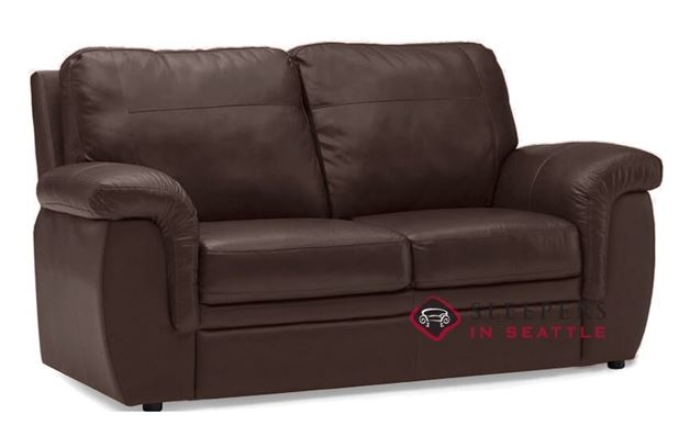 Palliser Brunswick Leather Sleeper in Venice Chocolate (Full)