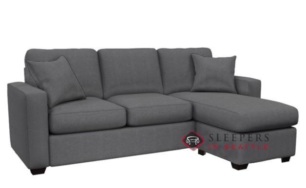 Stanton 702 Chaise Sectional Sleeper Sofa in Hayden Marmor (Queen)