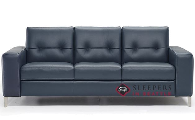 Natuzzi Po (B883-266) Leather Sleeper Sofa with Greenplus Foam Mattress (Queen)
