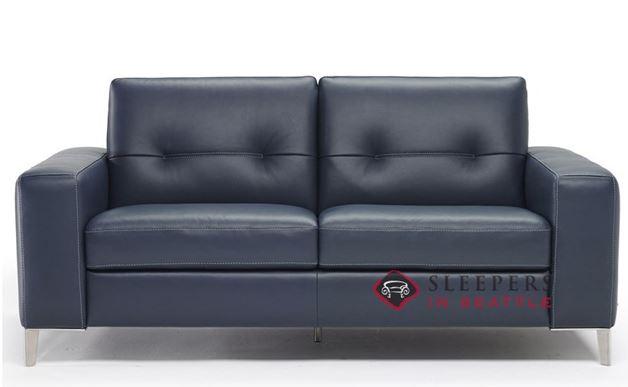 B883-009: Natuzzi Editions Po Leather Studio Sofa