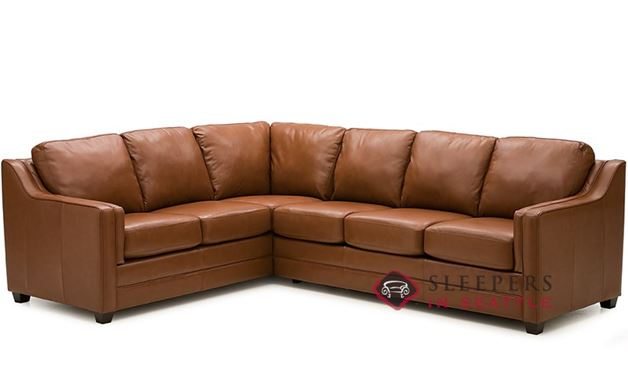 Palliser Corissa Leather True Sectional Sleeper Sofa (Full)
