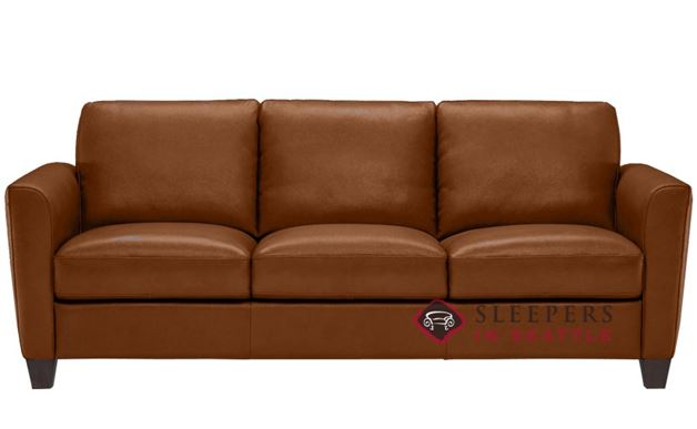 Natuzzi B592 Leather Sleeper in Oregon Cognac (Queen)