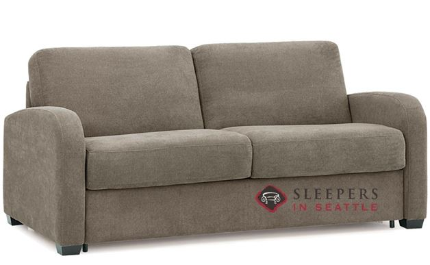 Palliser My Comfort Daydream 2-Cushion Sleeper Sofa in Hush Mushroom (Queen)
