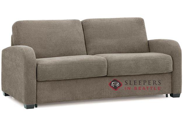 Palliser My Comfort Daydream 2-Cushion Sleeper Sofa in Hush Mushroom (Queen)
