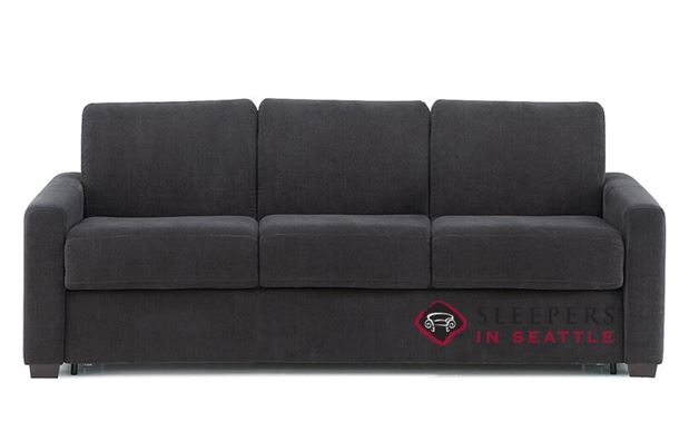 Palliser Roommate My Comfort 3-Cushion Sleeper Sofa in Heavenly Caviar