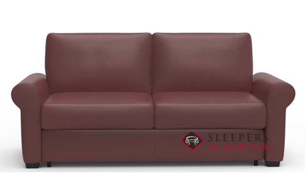 Palliser Sleepover My Comfort Leather Sleeper Sofa (Full)