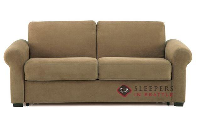 Palliser Sleepover My Comfort Sleeper Sofa (Full) in Echosuede Cappuccino