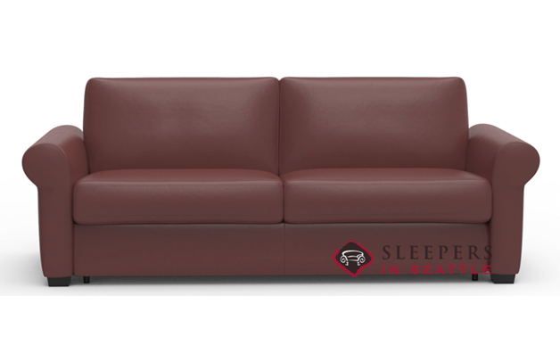 Palliser Sleepover My Comfort 2-Cushion Leather Sleeper Sofa (Queen)