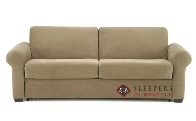Palliser Sleepover My Comfort 2-Cushion Sleeper Sofa (Queen) in Echosuede Cappuccino