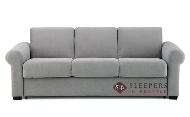 Palliser My Comfort Sleepover 3-Cushion Sleeper Sofa (Queen) in Echosuede Charcoal