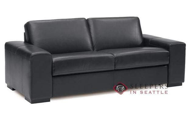 Palliser Weekender My Comfort Leather Sleeper Sofa (Full) in Broadway Onyx