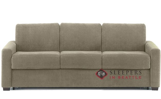 Palliser Roommate My Comfort 3-Cushion Sleeper Sofa in Echosuede Stone