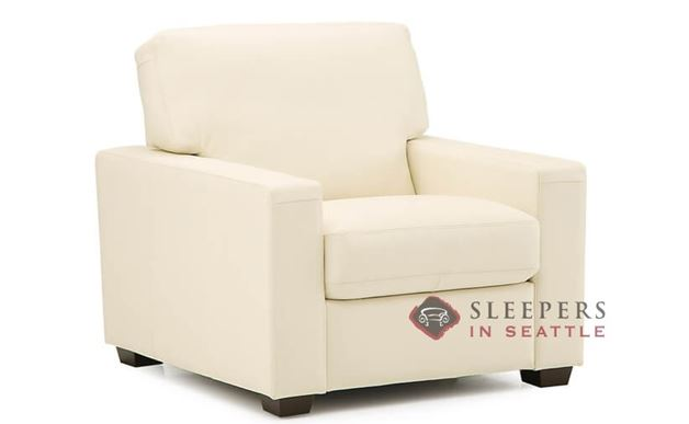 Palliser Westend Leather Arm Chair in Broadway Alabaster