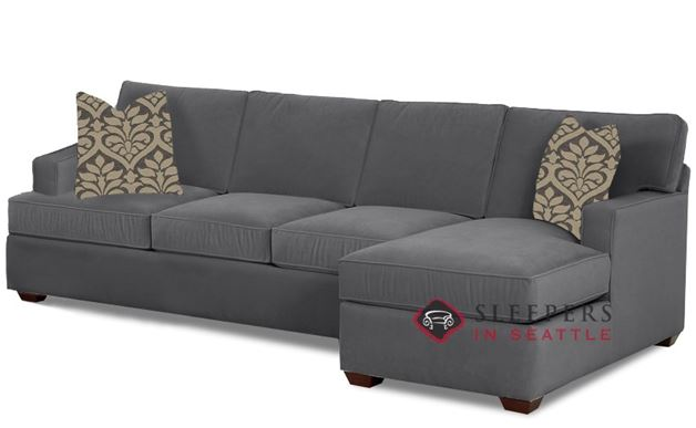Savvy Waltham Chaise Sectional Sleeper in Geo Raven