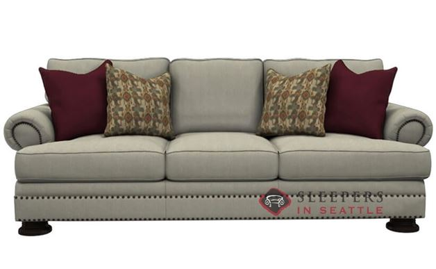 Bernhardt Foster Sleeper Sofa with Down-Blend Cushions (Queen)