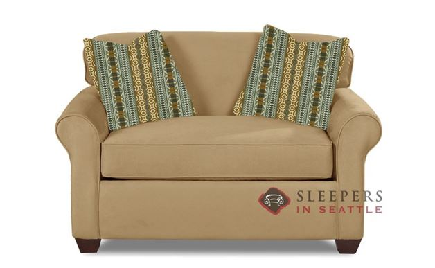 Savvy Calgary Sleeper in Microsuede Camel (Chair)