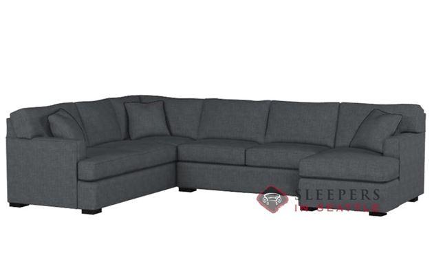 Stanton 146 U-Shape True Sectional Sleeper Sofa in Bennett Charcoal (Queen)