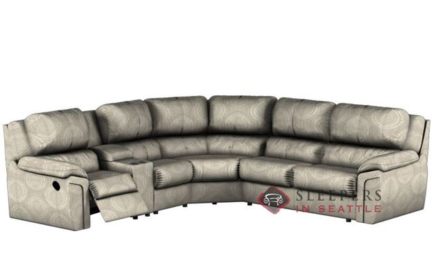 Palliser Daley Large Reclining True Sectional Sleeper with Console