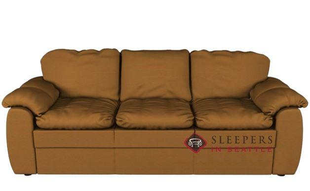 Palliser Shanelle Leather Sofa in Dazzle Maize