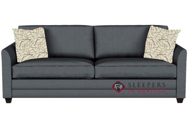 Savvy Valencia Sleeper in Microsuede Charcoal (Queen)