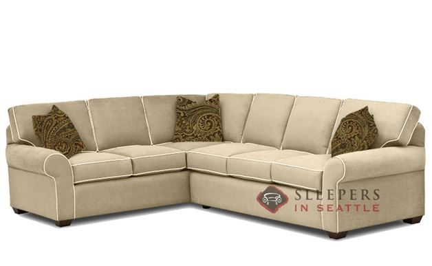 Quick-Ship Seattle True Sectional Fabric Sofa by Savvy | Fast Shipping  Seattle True Sectional Sofa Bed | SleepersInSeattle.com