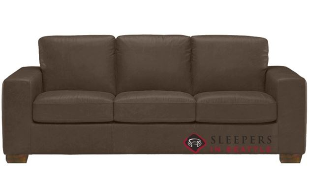 Natuzzi B534 Sleeper in Denver Dark Taupe (Queen)