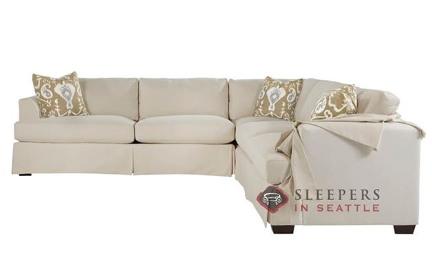Savvy Berkeley True Sectional Sleeper Sofa with Slipcover