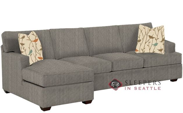 Savvy Lincoln Chaise Sectional Sleeper in Frenzy Otter (Queen)