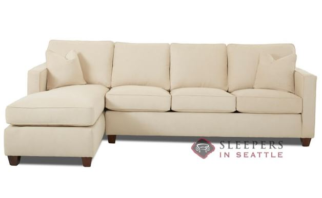 Savvy Jersey Chaise Sectional Full Sleeper Sofa